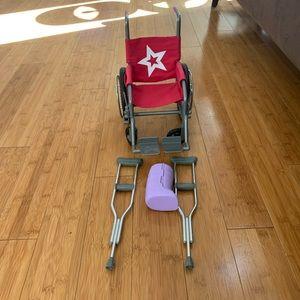 American Girl Wheelchair Set